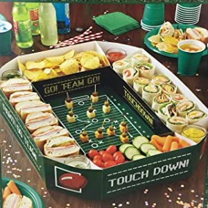 Football Party Food Server Tray Game Day Snack Stadium Decoration