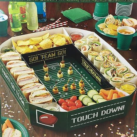 Amazon.com | Football Party Food Server Tray Game Day Snack Stadium ...