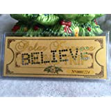 Amazon Price History for:Polar Express 'BELIEVE' Original Size Hole Punched Round Trip Keepsake Ticket