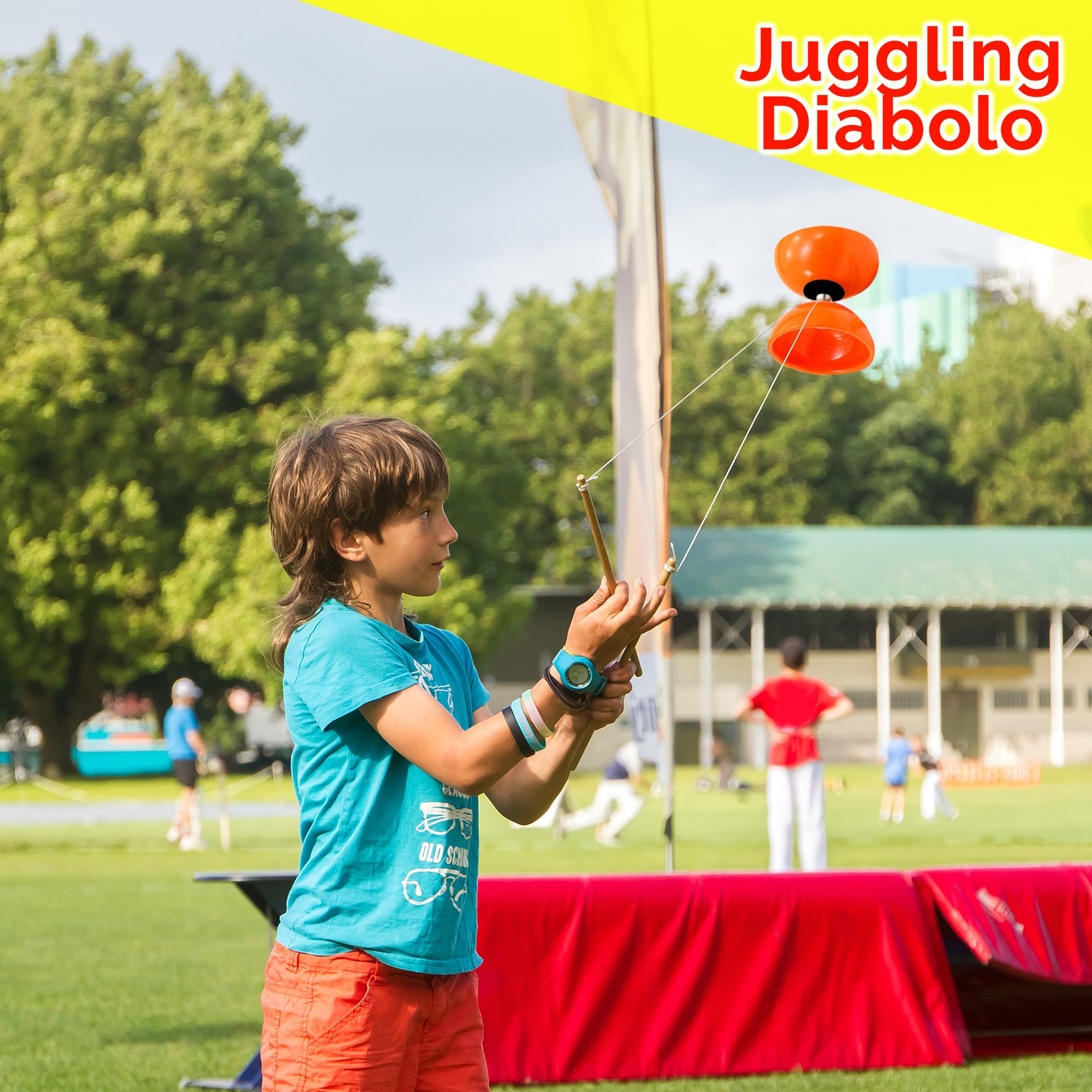 Beginners Juggling Kit - Balls (3), Pins (3), Plates (3), Rings (3), Chinese Yoyo Diabolo Advanced Set Cool Fun Unique Toy Gift Set For Boys and Girls by Juggle Mania (Image #5)