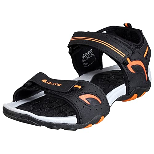 7ad8e1bbba5 Duke Men Black and Orange Stylish Sandals  Buy Online at Low Prices in  India - Amazon.in