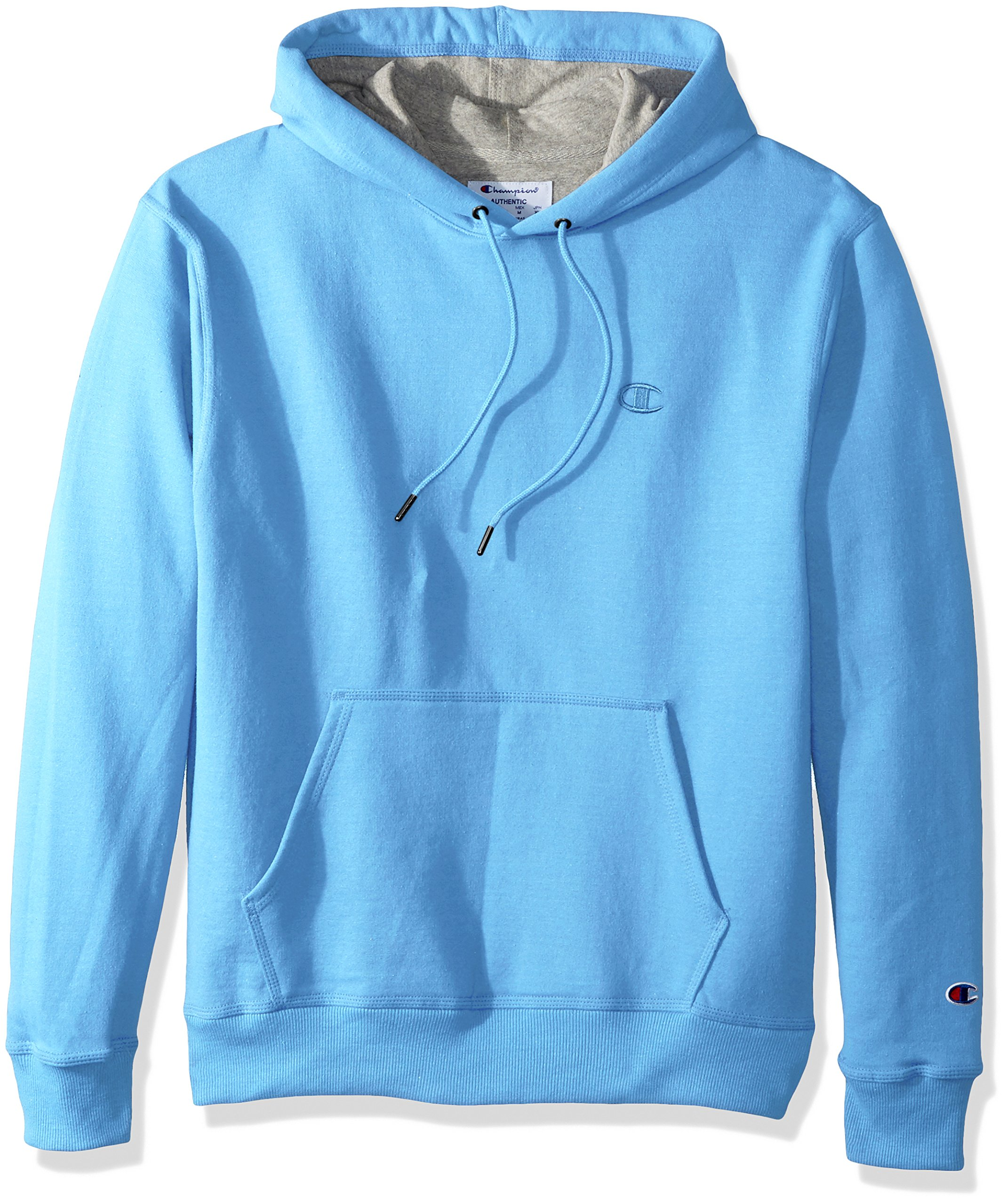 Champion Men's Powerblend Pullover Hoodie, Swiss Blue, Large by Champion