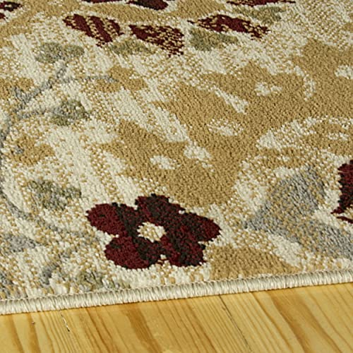 Superior Augusta Collection Area Rug, 8mm Pile Height with Jute Backing, Woven Fashionable and Affordable, 8 x 10 – Camel