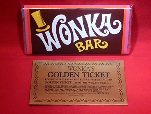 Probably The Best Willy Wonka Chocolate Bar On Amazon With Golden