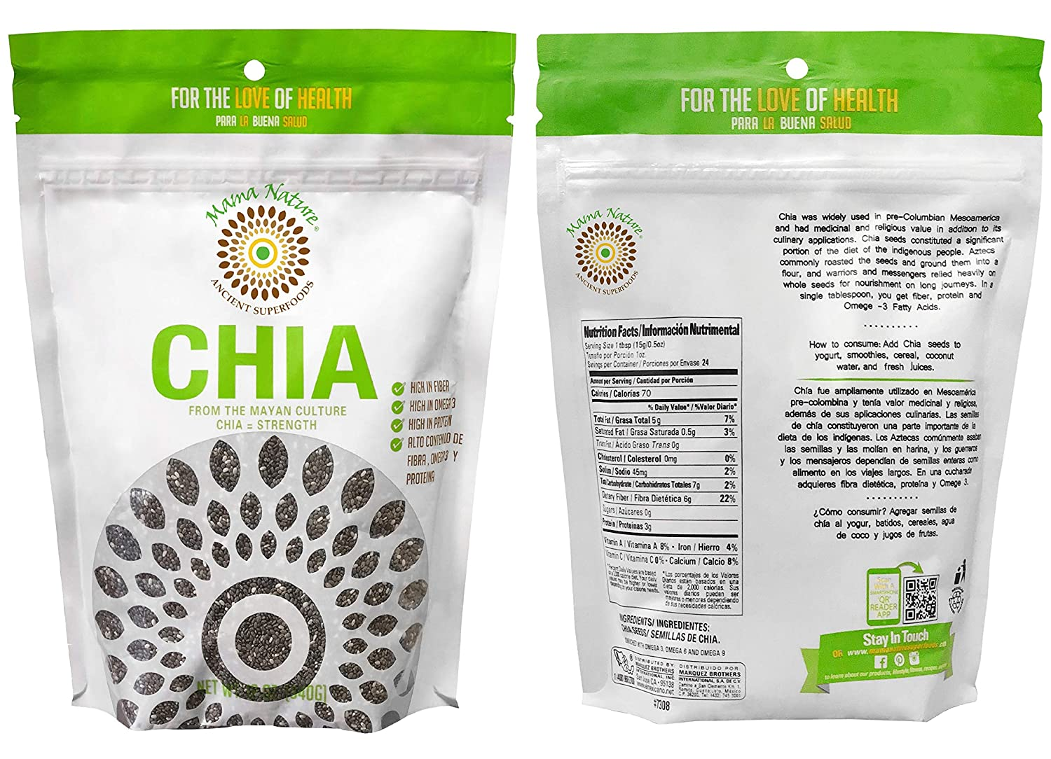 Mama Nature Chia Seeds 12 oz