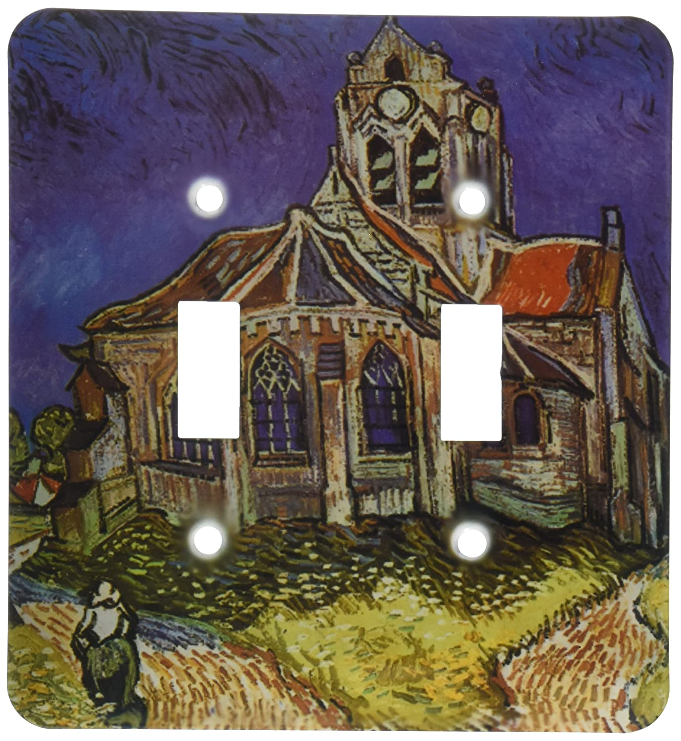 3dRose lsp_128167_2 The Church at Auvers by Vincent Van Gogh Double Toggle Switch