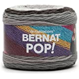 Bernat POP! Yarn (4) Medium Gauge 100% Acrylic - 5oz - Ebony/Ivory - Machine Wash & Dry