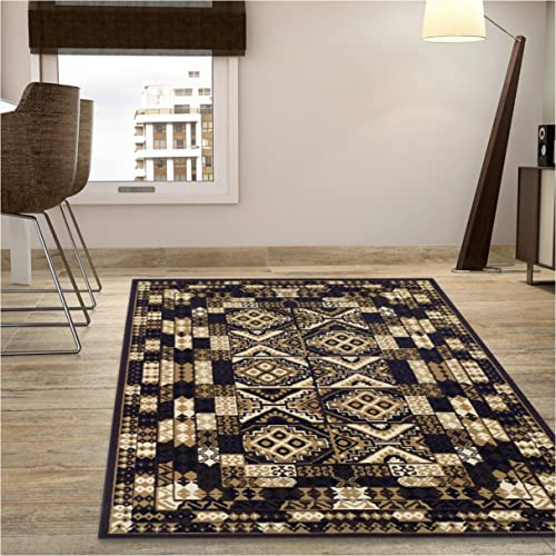 Superior Mosaic Collection Area Rug, Attractive Rug with Jute Backing, Durable and Beautiful Woven Structure, Abstract Geometric Rug – 8 x 10
