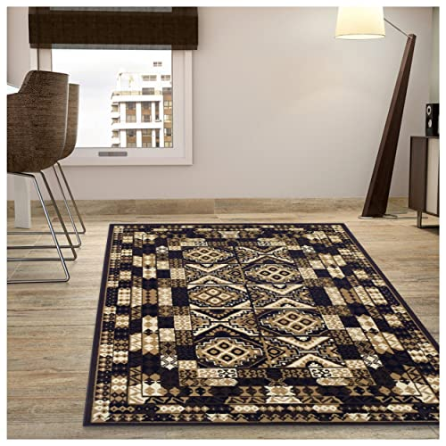 Superior Mosaic Collection Area Rug, Attractive Rug with Jute Backing, Durable and Beautiful Woven Structure, Abstract Geometric Rug – 5 x 8