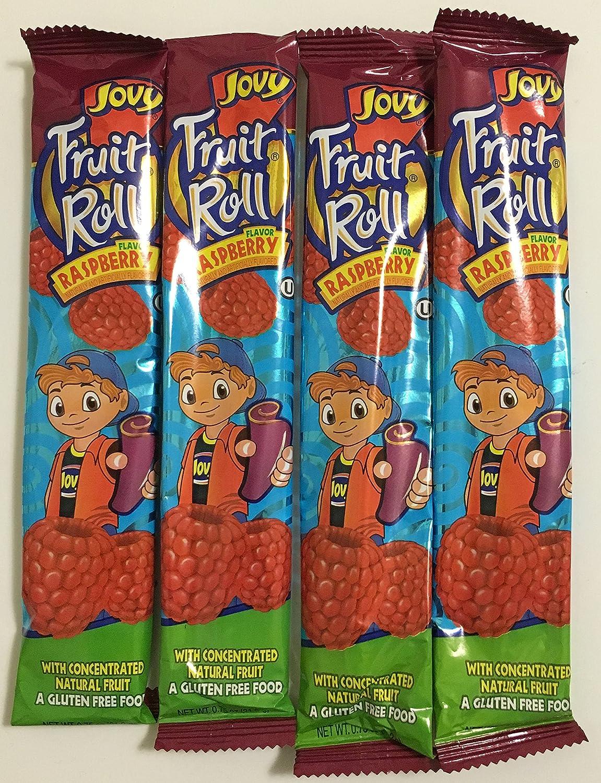 0.75oz Jovy Fruit Roll Snack, Raspberry (16 Single Packets Per Order)