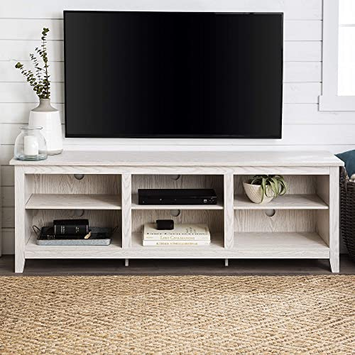 Tucker 70 Inch Television Stand in White Wash Finish