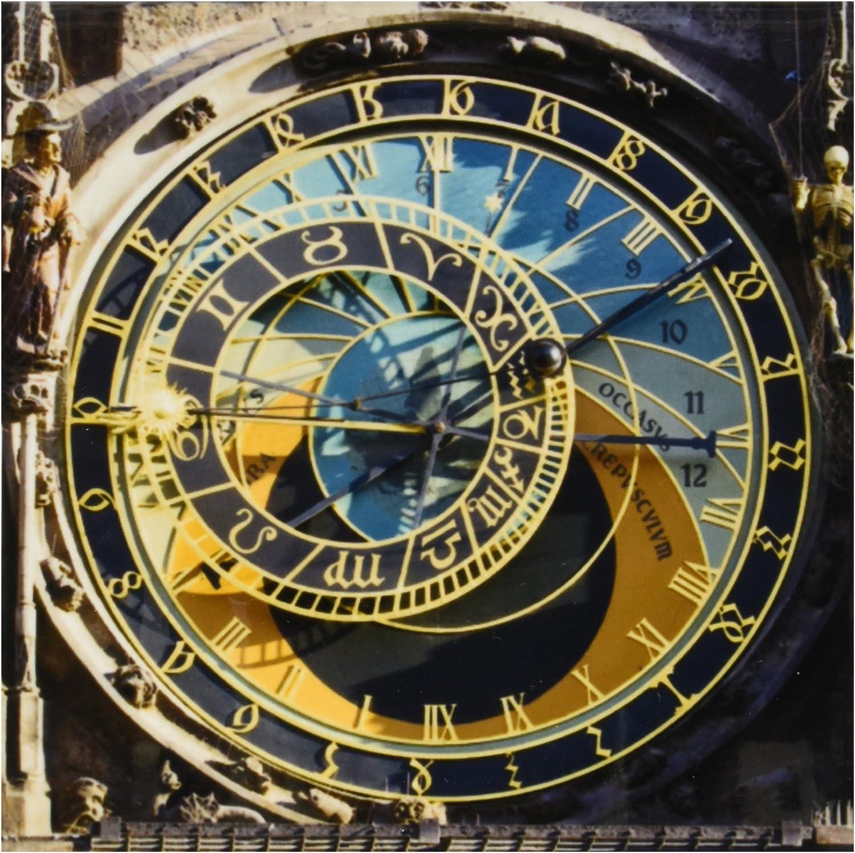 3dRose ct_81259_2 Astronomical Clock, Orloj, Prague, Czech Republic-Eu06 Tha0021-Tom Haseltine-Ceramic Tile, 6-Inch