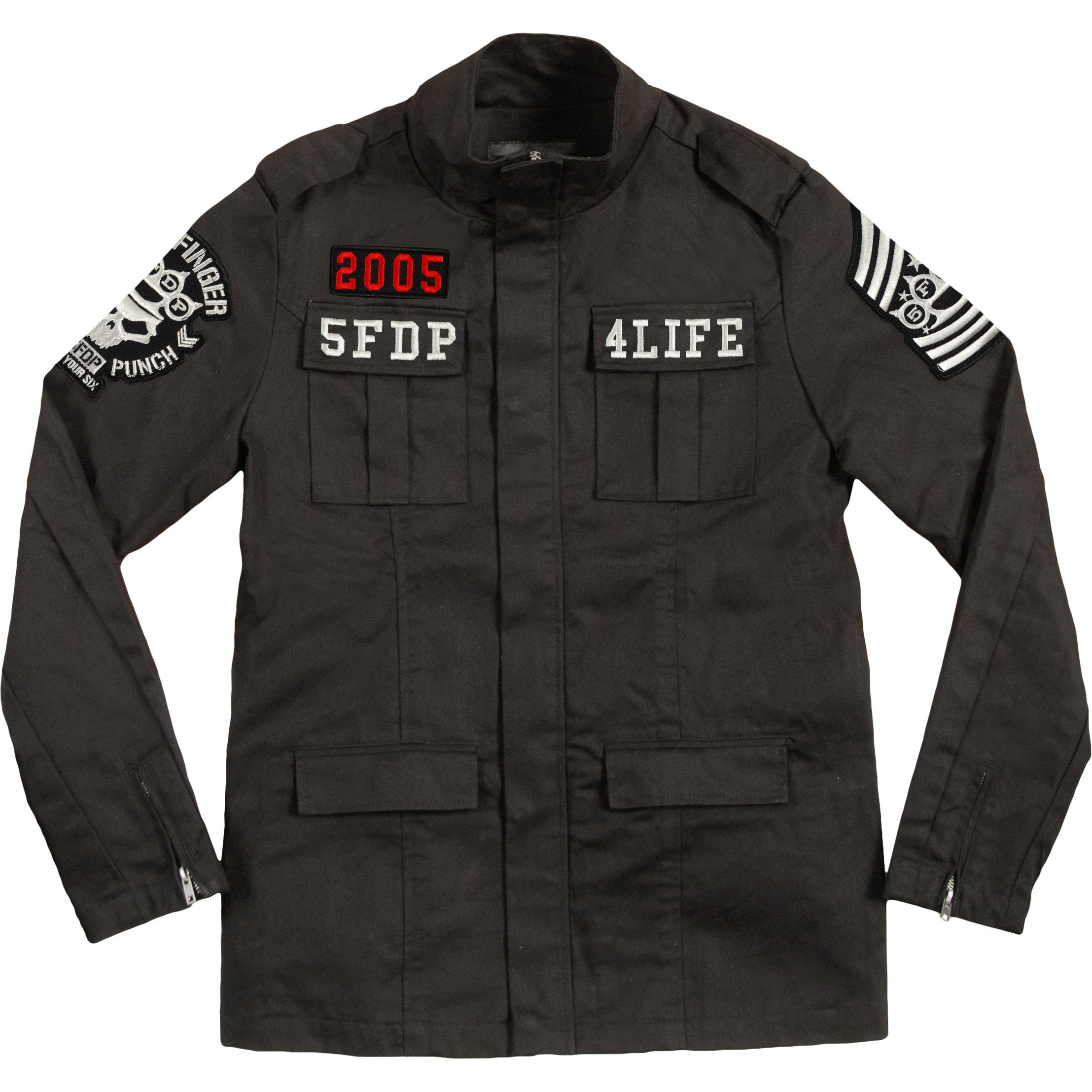 Five Finger Death Punch Military Jacket - Black (Large)