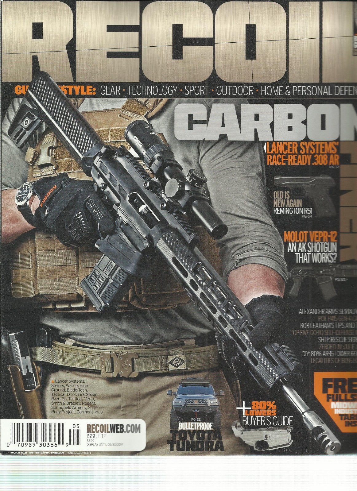 RECOIL, HOME & PERSONAL DEFENSE, ISSUE, 12 (LANCER SYSTEMS RACE-READY .308AR