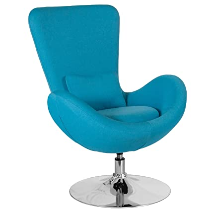 d28135c42 Amazon.com  Flash Furniture Egg Series Aqua Fabric Side Reception Chair   Kitchen   Dining