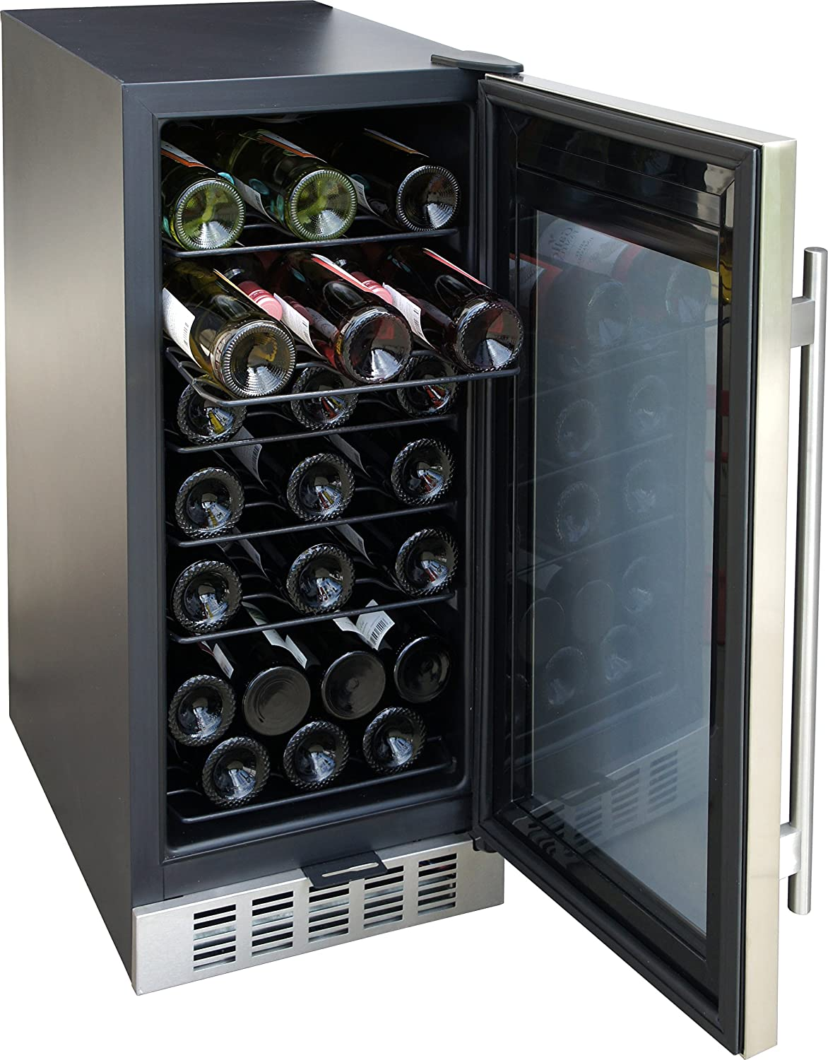 amazoncom spt wc31u 32bottle wine and beverage cooler stainless steel appliances - Under Counter Wine Cooler