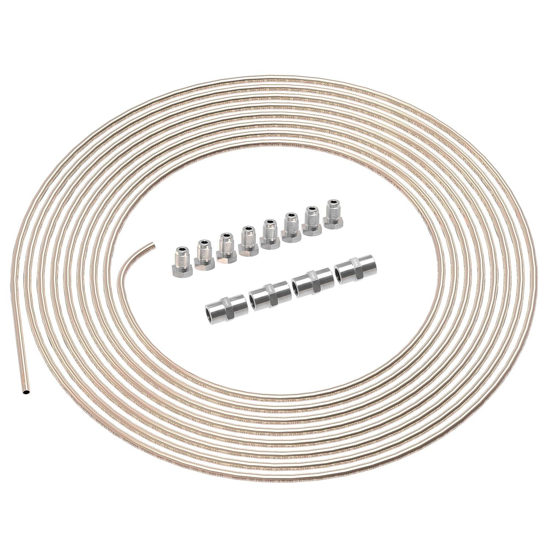 8 raccords m/âles 4 Connecteurs femelles M10 x 1 DIN 74 234 Kit Freinage 3//16 Tube rigide avec Connexions pour l/évasure DIN collet-battu m/âle 3m Tuyau de Frein /Ø 4,75 mm en Cuivre Cupro Nickel