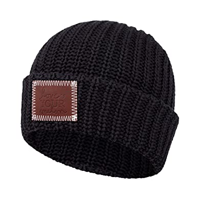 Love Your Melon Black Cuffed Beanie at Amazon Women s Clothing store  6e2474201c3