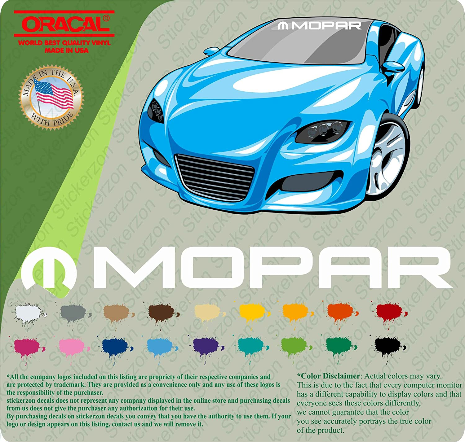 Amazon MOPAR VINYL WINDSHIELD BANNER DECAL STICKER SPORT RACING
