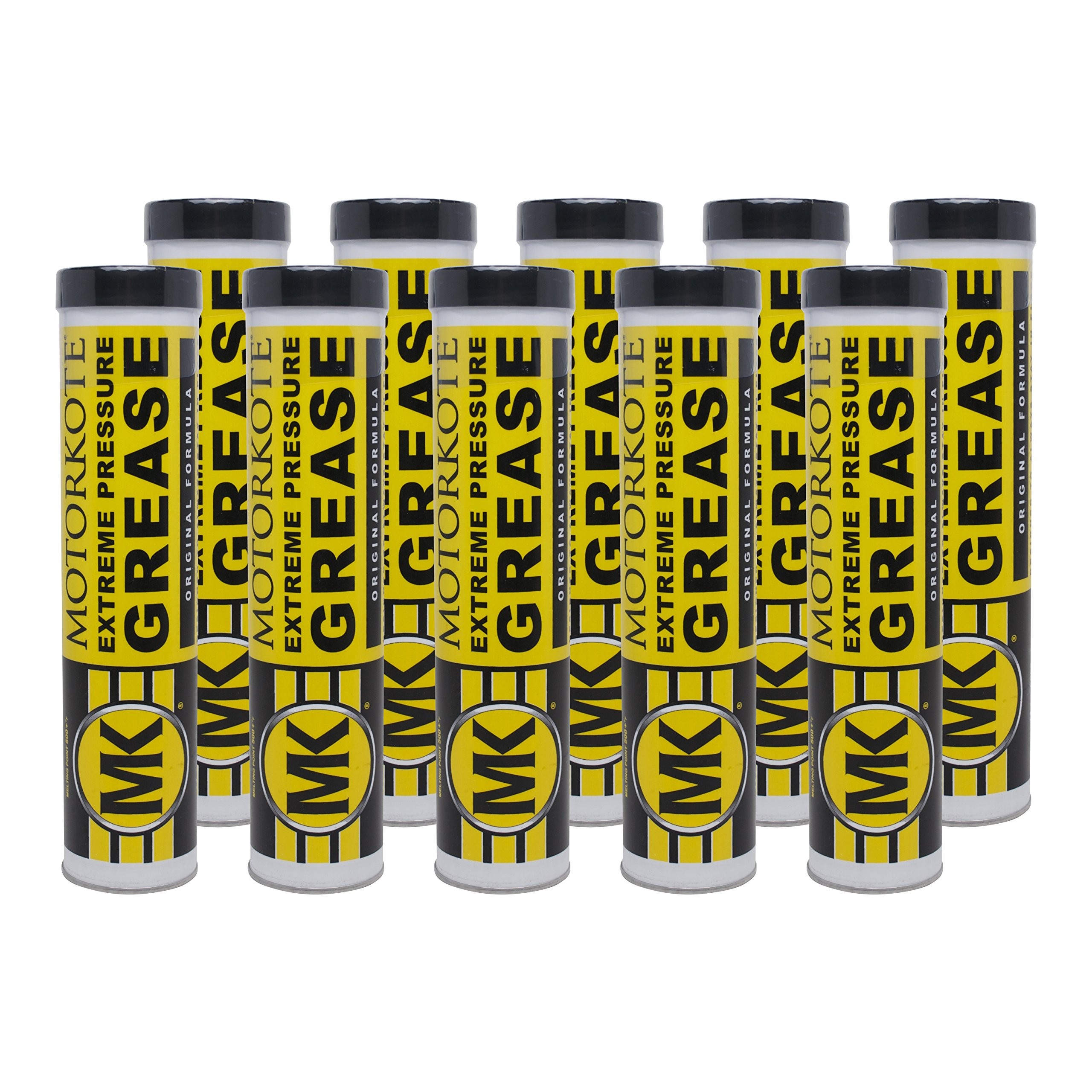 Motorkote MK-20215-10-10PK Multi-Purpose Extreme Pressure Grease, 14-Ounce, 10-Pack by Motorkote