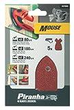 Piranha Mouse Sander Sheet - Set of 5