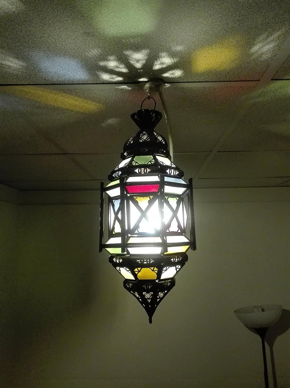 Lámpara marroquí a Techo Farol Lámpara Aplique étnico Chic Vintage árabe Africano Oriental Marruecos 1000