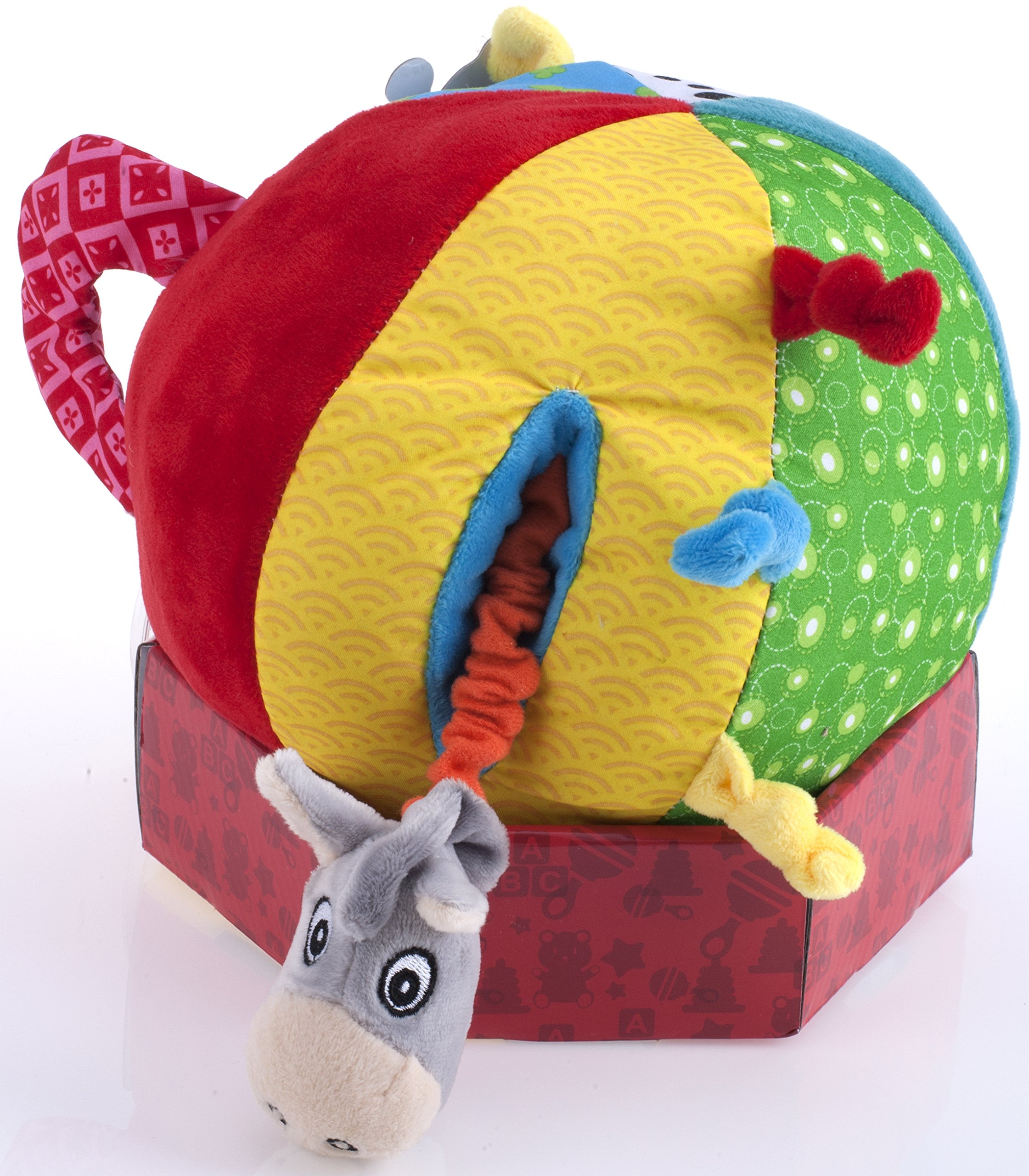 Nuby Squeak Rattle N' Roll Plush Interactive Toy by Nuby (Image #4)