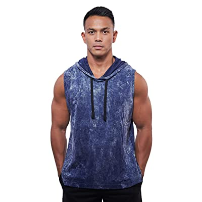 Alpha Brothers Men's Sleeveless Muscle Hoodie Bodybuilding Gym Training Workout Hoodie at Men's Clothing store
