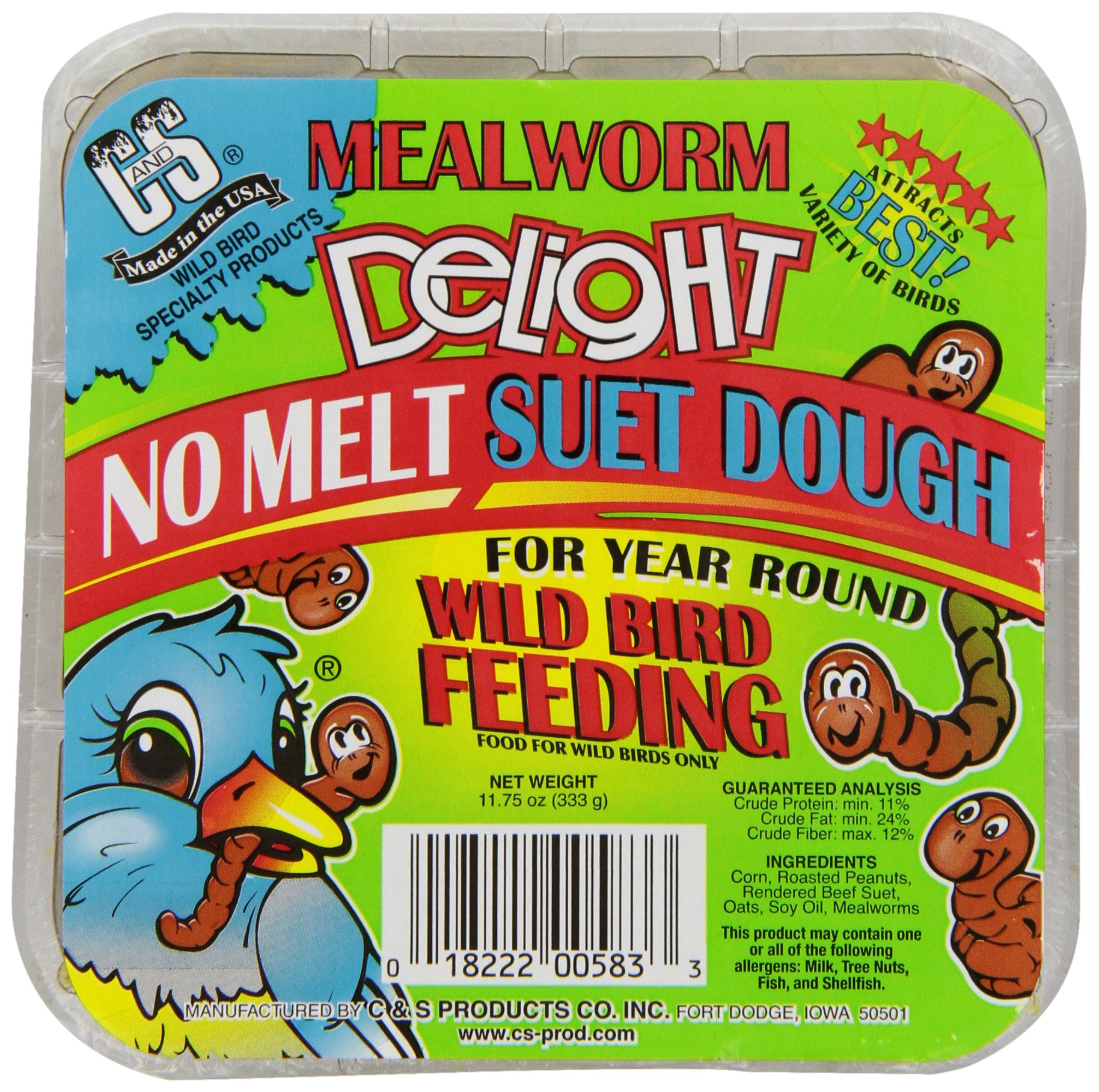 C & S Products Mealworm Delight, 12-Piece by C & S Products