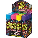Silly String Spray Streamer (Assorted Colors) (Pack of 12)(3 Oz cans)