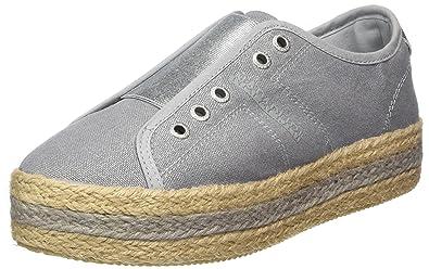 Footwear Hope, Espadrilles Femme, Grau (Silver Metallic), 41 EUNapapijri