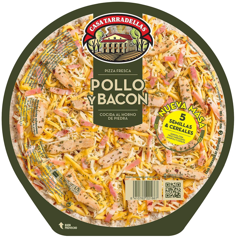 Casa Tarradellas Pizza Fresca Rústica de Pollo - 410 gr: Amazon.es ...