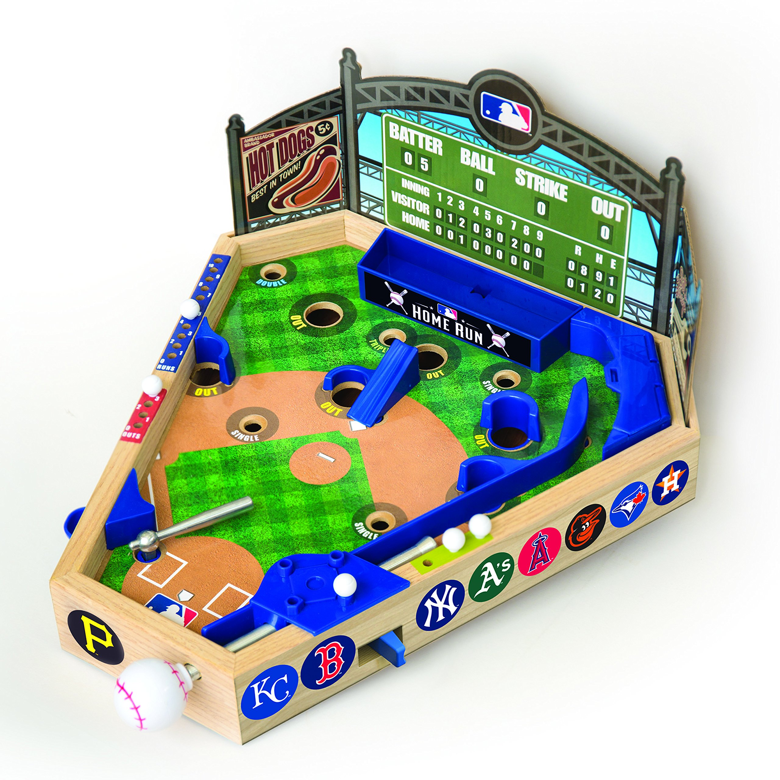 Merchant Ambassador (Holdings) MLB Wooden Pinball Baseball Game by Merchant Ambassador (Holdings)