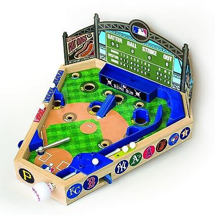 Merchant Ambassador Holdings Mlb Wooden Pinball Baseball Game