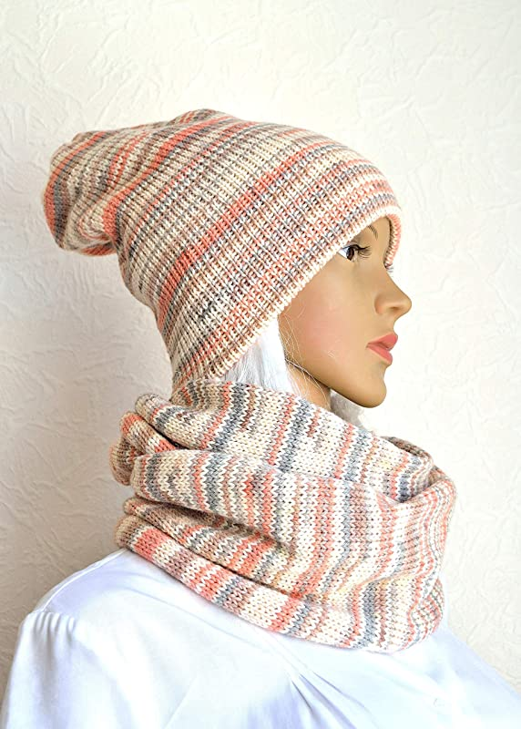 Snood very original hood in Alpaca multicolor hand knit accessory Made In France gift for her HeyLaineInFrance hot