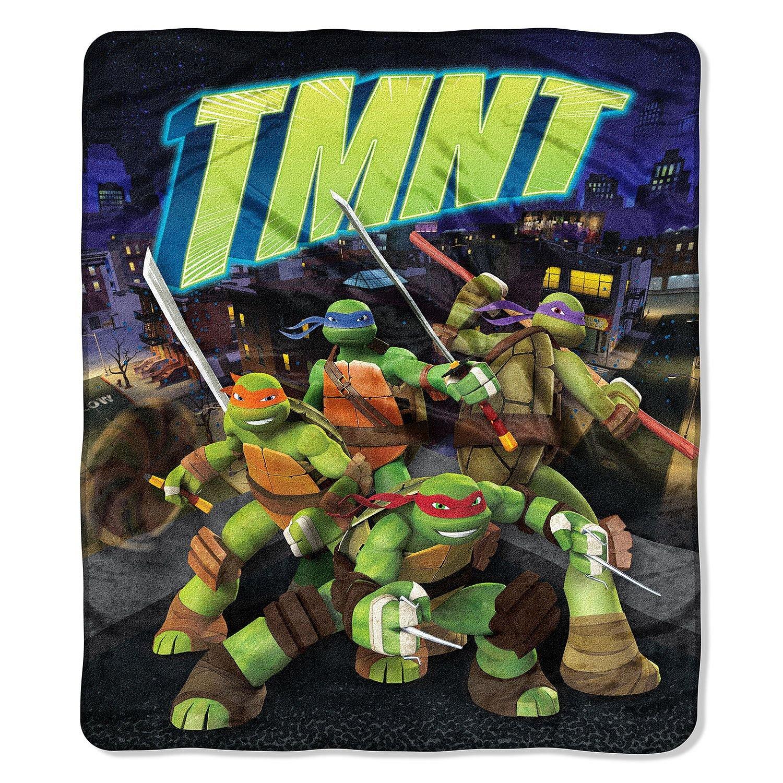 "Ninja Turtle Nickelodeons Teenage Mutant City Slick"" Double-Sided Cloud Throw, 60"
