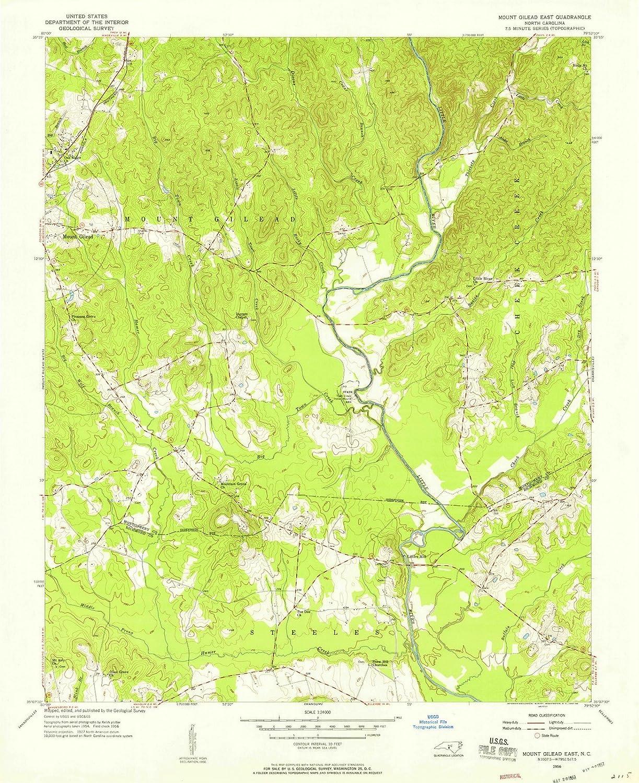 Amazon.com: Historic Pictoric - North Carolina Maps - 1956 ...