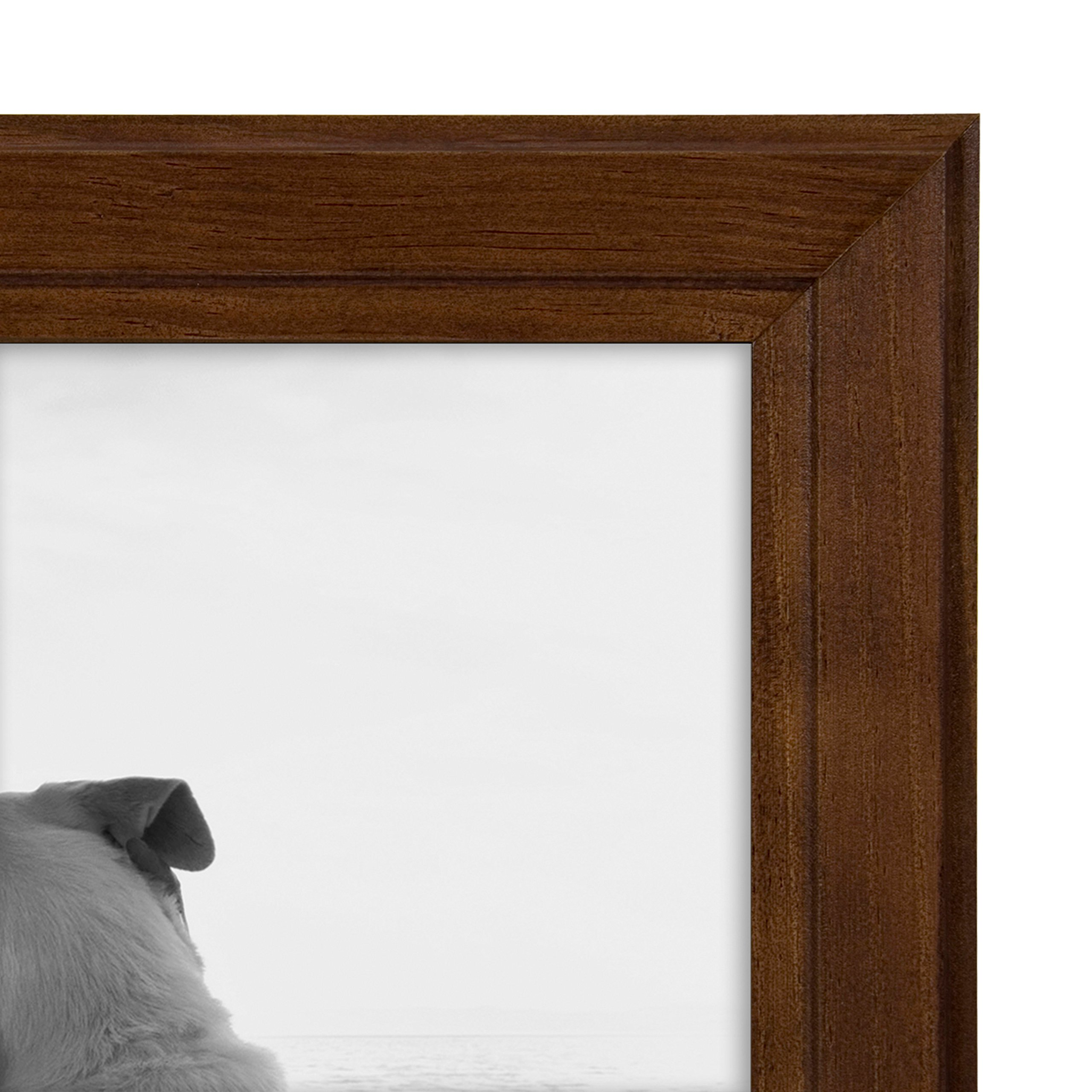 DesignOvation Kieva Solid Wood Picture Frames, Espresso Brown 8x10, Pack of 6 by DesignOvation (Image #4)