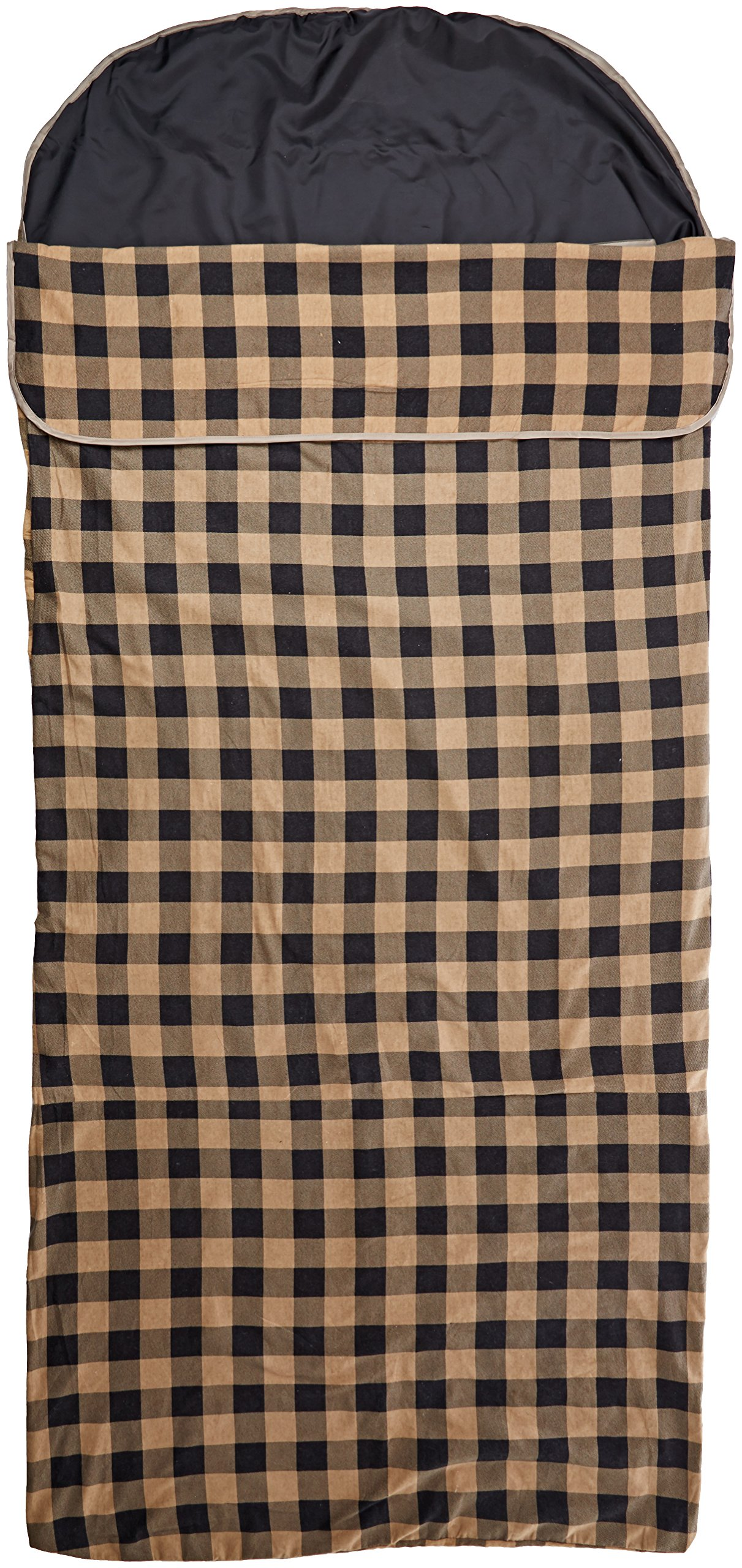 Ledge Sports Flannel Sleeping Bag Liner (90X40, Brown)