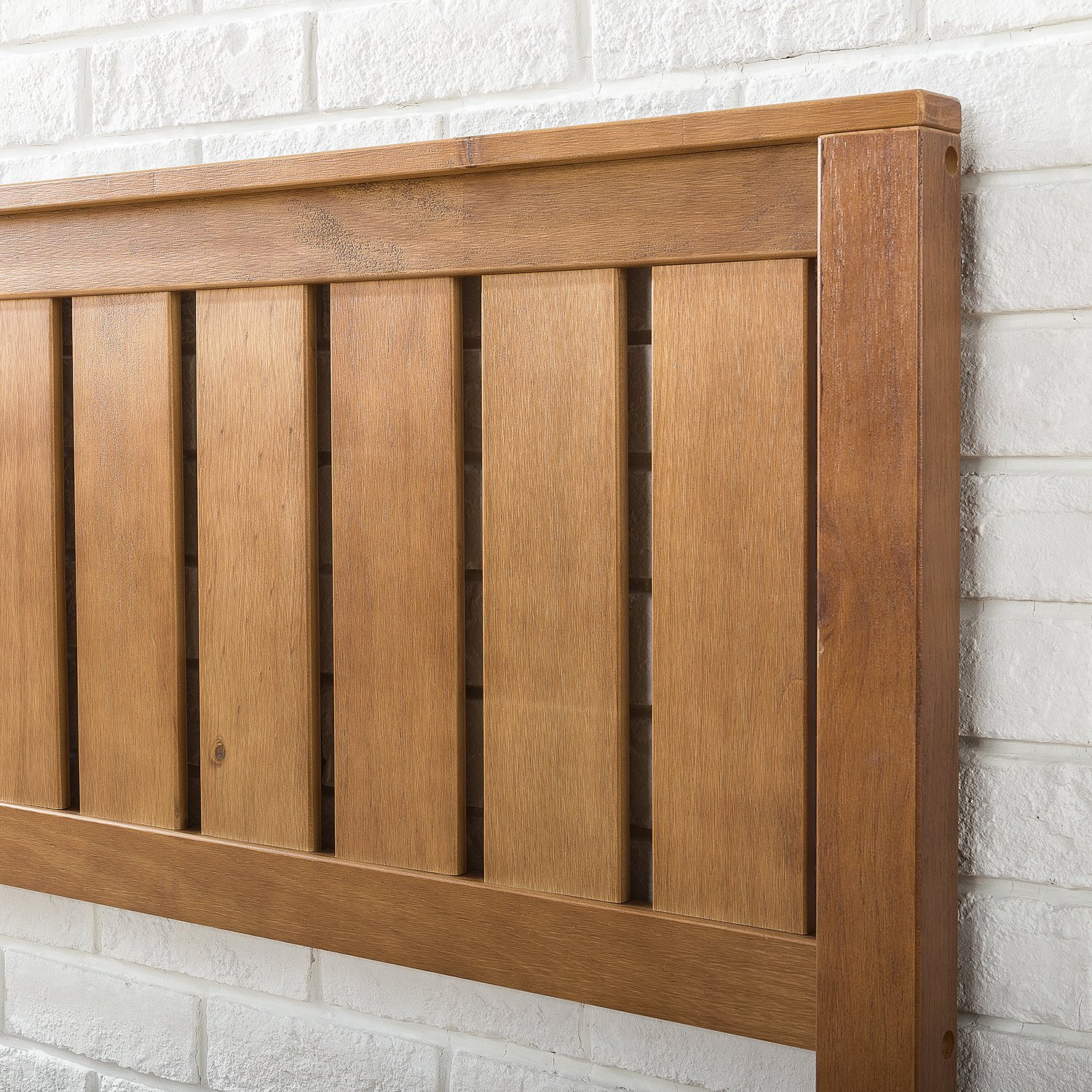 Zinus 12 Inch Deluxe Wood Platform Bed with Headboard / No Box Spring Needed / Wood Slat Support / Rustic Pine Finish, Twin by Zinus (Image #5)