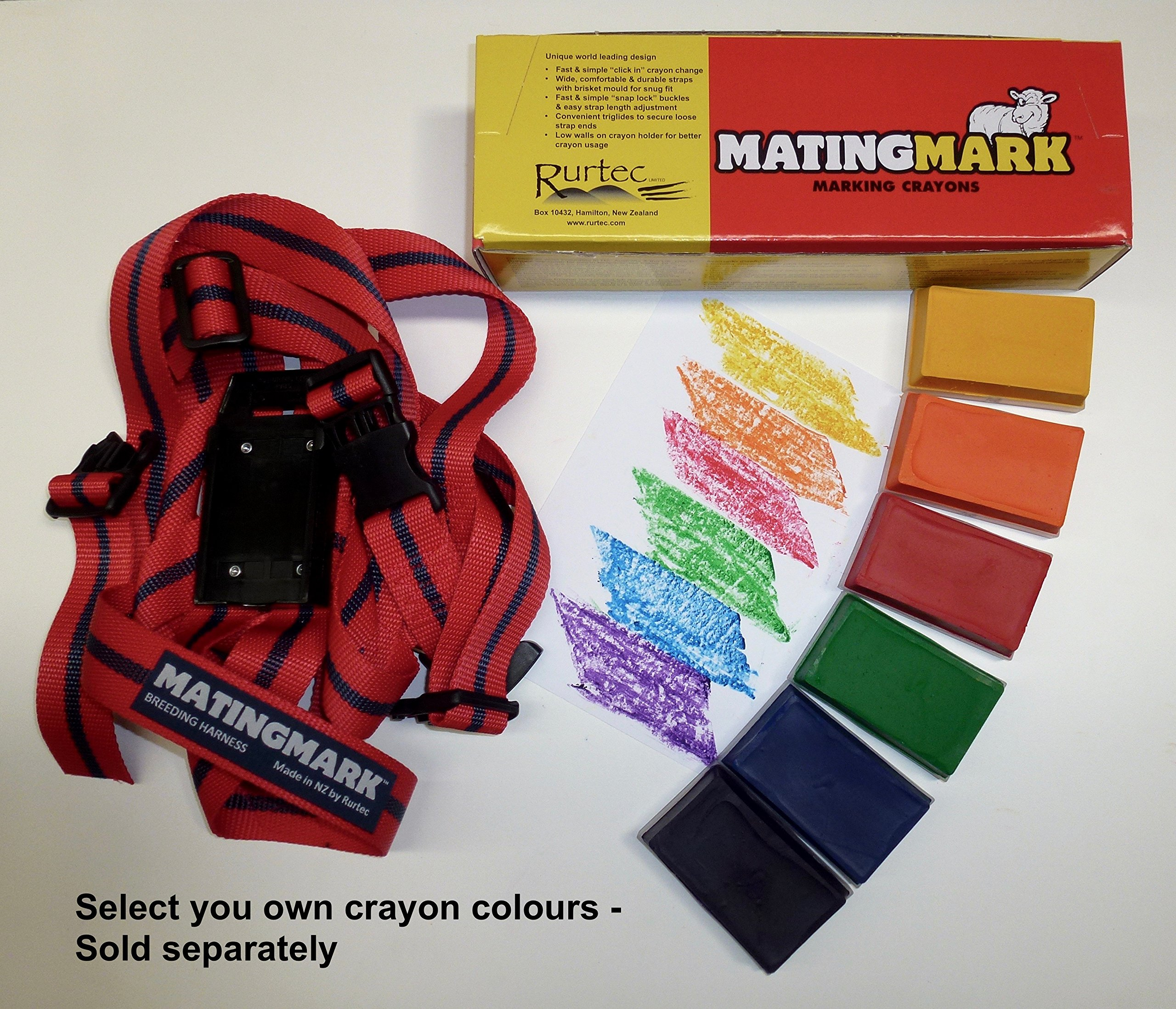 MATINGMARK Deluxe Ram Marking Harness for Monitoring Breeding Sheep & Goats by Rurtec, Crayon Block Marker System, Made in New Zealand - Standard Size (Crayon Sold Separately) by MATINGMARK (Image #1)