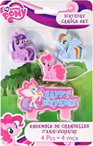 Amscan Mini Molded Cake Candles | My Little Pony Friendship Collection | Birthday | 6 Sets