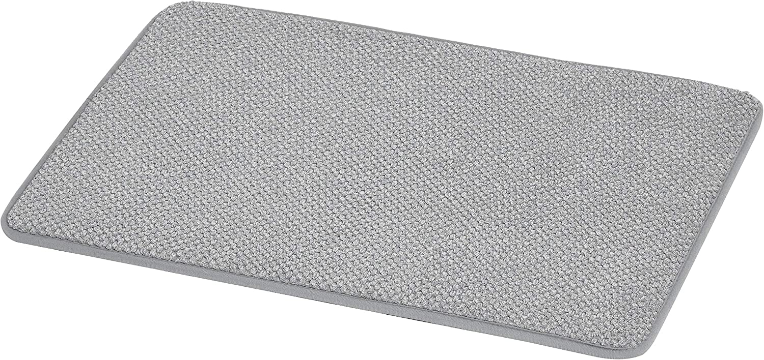 Amazon Com Amazonbasics Textured Memory Foam Bath Mat Small