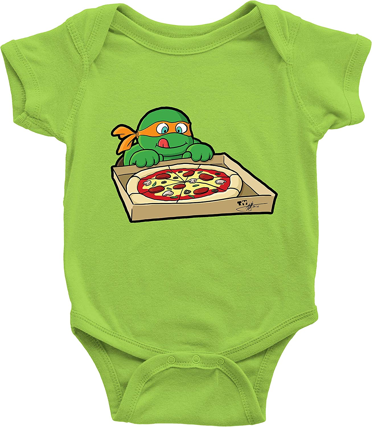 Hungry Ninja Infant Baby Clothes Bodysuits Jumpsuit Romper Babysuit Shower Gift Cute Turtles Pizza