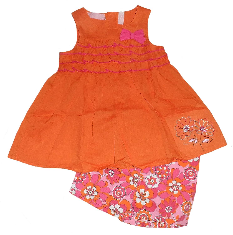 Kids Headquarters Little Girls Ruffle Tank /& Floral Shorts Set
