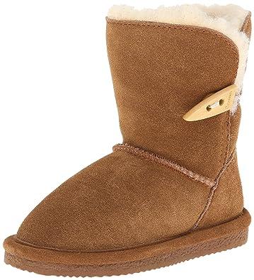 BEARPAW Victorian Boot (Toddler/Little Kid/Big Kid),Hickory,13
