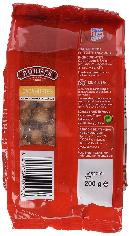 Borges - Cacahuete Repelado Frito Y Salado. Bolsa Corn Seal 200 g - [Pack de 7]: Amazon.es: Alimentación y bebidas