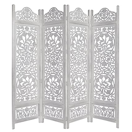 Amazoncom Cotton Craft Kamal The Lotus Antique White 4 Panel