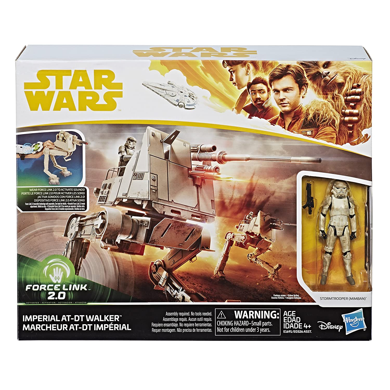 Star Wars Imperial AT-DT Walker with Stormtrooper Force Link 2.0 Hasbro E1691 Mimban