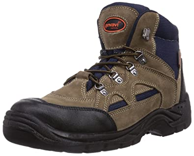 Gevavi Worker S1P WERKSCH HG - Zapatos De Seguridad de Piel Unisex Adulto, Color Marrón, Talla 39